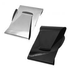 Double Sided Stainless Steel Card Holder / Money Clip with Side Guard Reinforcements