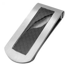 Steel Money Clip with Carbon Fiber