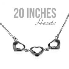 Hearts Necklace in Stainless Steel