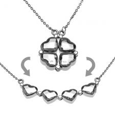 2 in 1 Heart Shamrock Necklace