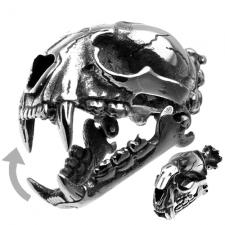 BIG Feline Skull Pendant with movable mandibule