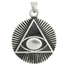 Stainless Steel Pyramid Eye Pendant