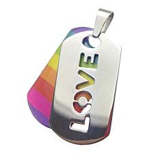 Gay Pride Love Dog Tag