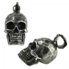 Stainless Steel Gun Color Skull Head Pendant