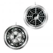 Stainless Steel Zodiac Medallion Pendant