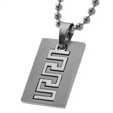 Stainless Steel Pendant in two Parts with Geometric Design