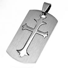 Stainless Steel Two Part Cross Pendant