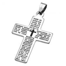 Padre Nuestro Cross Pendant