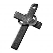 Cross Pendant with Padre nuestro