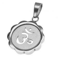 Om Pendant in Stainless Steel