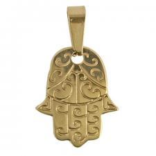 Stainless Steel Gold PVD Designer Hamsa Pendant