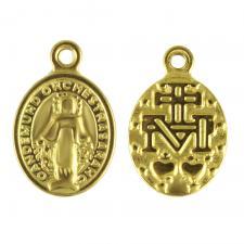 Gold Tone Rosary Charm