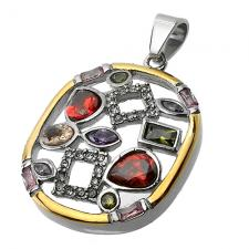 Vintage Pendant with color Stones