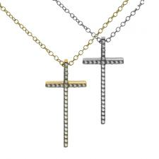Wholesale Jeweled Cross Necklace