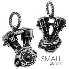 Motorcycle Engine Pendant in Stainless Steel