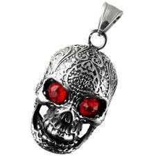 Stainless Steel Dia De Los Muertos Sugar Skull Pendant