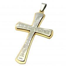 Pai Nosso Prayer Cross Pendant