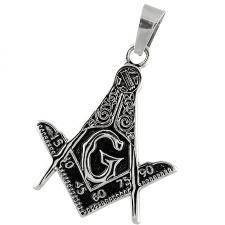 Masonic Symbol Square & Compass Pendant