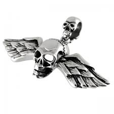 Bikers Skull Angel Wings Pendant