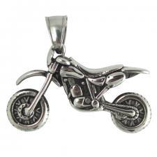 Stainless Steel Motocross Bike Pendant
