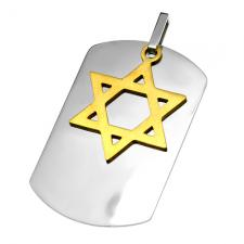 Star of David Dog Tag Pendant