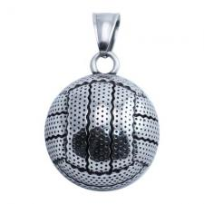 Stainless Steel Convex Volleyball Pendant