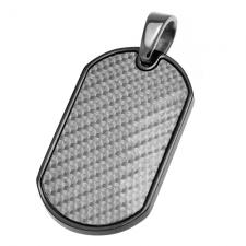 Carbon Fiber and Steel Dog Tag