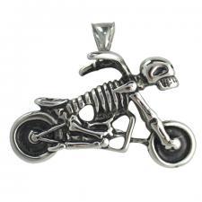 Stainless Steel Skull Motorcycle Biker Pendant
