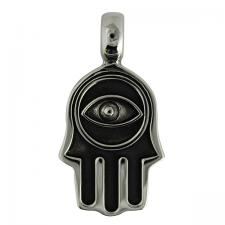 Stainless Steel Hamsa Eye Pendant