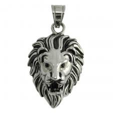 Stainless Steel Lion's Head Pendant