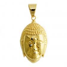 Gold Tone Buddha Head Pendant