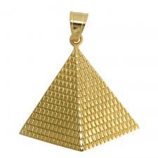 Gold Tone Pyramid Pendant