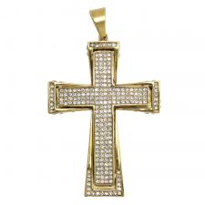 Gold Encrusted Cross Pendant