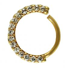 Front CZ Tragus / Cartilage Ear Hoop in Gold