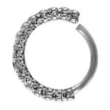 Front CZ Tragus / Cartilage Ear Hoop