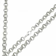 Gorgeous Stainless Steel Necklace With Multiple Circular Shaped Links -- 5mm