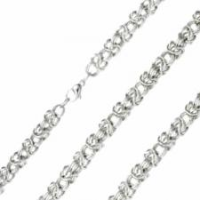 Awesome Stainless Steel Necklace With Rope Design -- About 8mm