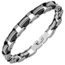 Biker Style Stainless Steel Bracelet