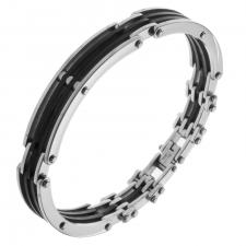 Wholesale Steel and Rubber Bracelet