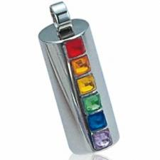 Rainbow Stainless Steel Pendant- Gay pride