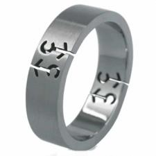 Brushed Stainless Steel Ring (Male Symbol) - Gay Pride
