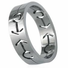 Stainless Steel Ring (Male Symbol)  - Gay Pride