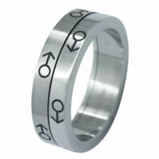 Stainless Steel Spinning Ring (Male Symbol)- Gay Pride