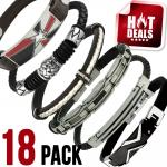 Assorted Leather & Stainless Steel Bracelet Package