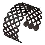 Black, Cuff, Bangle, Perforated, Geometric diamond Pattern