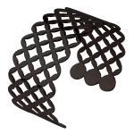 Black, Cuff, Bangle, Perforated, Geometric diamond Pattern