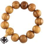 Light Brown Wooden Mala Prayer Bracelet