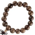 Dark Brown Wood Prayer Bracelet