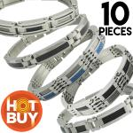 Stainless Steel Bracelets Package (10 Pieces) - Only $12.00 Each