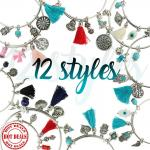 Assortment of 36 Charm Bangles - 12 Styles For $3 Per Piece